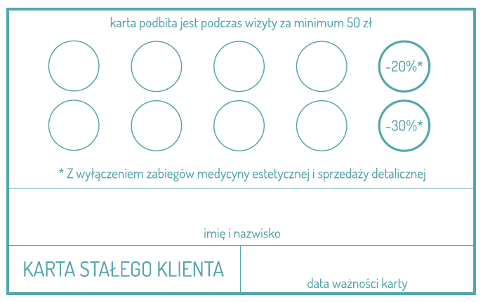 Karta Stalego Klienta Gabinetu Gabinet Gorlicka Kruk